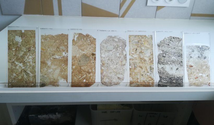 Lames minces micromorphologiques pour le Centre archéologique européen de Bibracte
