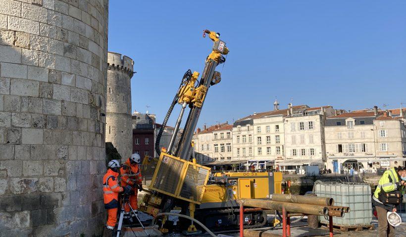 Geotechnical coring Tour Saint-Nicolas